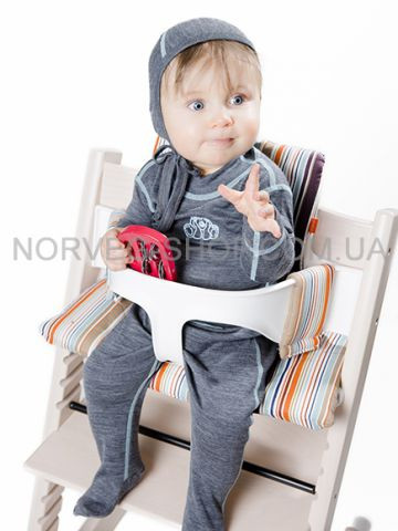 Ползунки детские Soft NORVEG (серый меланж, размер 56/62)
