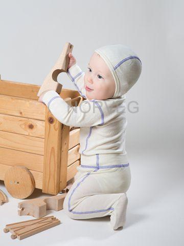 Термоползунки детские Soft NORVEG (молочные, размер 56/62)