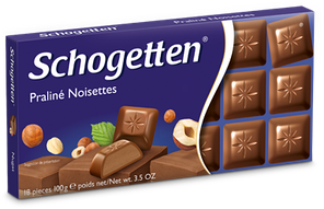 Шоколад Schogetten Praline Noisettes (Пралине нуга) 100гр