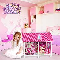 Детский Игровой Кукольный Домик для Барби 66882 двухкомнатный, Двухкомнатный Дом 66882 для Барби