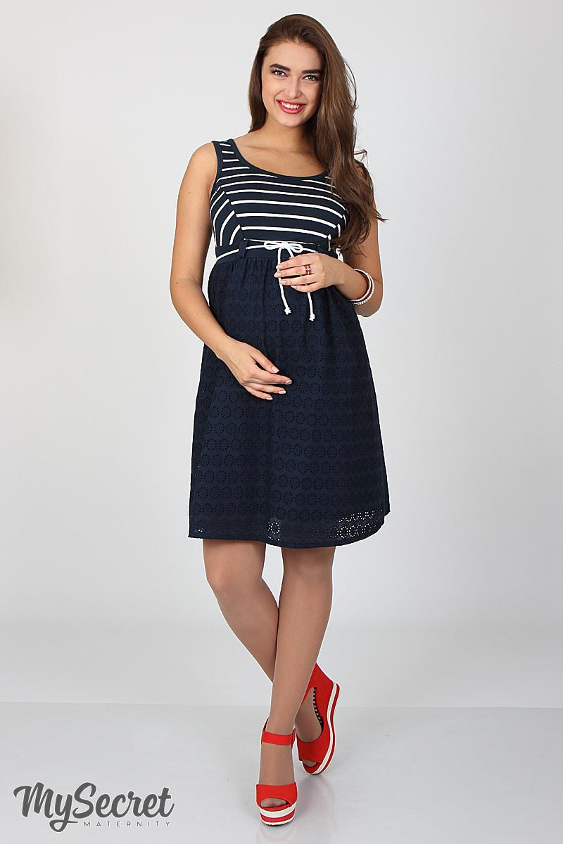 Сарафан для беременных и кормящих Tonia ЮЛА МАМА (темно-синий, размер S)