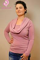 Свитер с хомутом-шарфом для кормящих Кальмия ГРУДНИЧОК (размер 42,розовый), фото 1