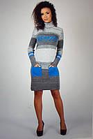 Теплое вязаное платье оптом со склада Туника Одесса, фото 1