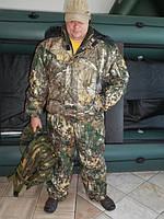 Зимний костюм камуфляжный для охоты и рыбалки* СОСНА * Мембрана .Не шелестит. Куртка+полукомбинезон