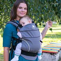 Слинг-рюкзак MANDUCA Pure Cotton - Dark Grey, фото 1