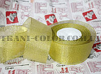 Лента парча 5см золото (23 метра)