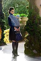 Слинг-шарф DIVA MILANO Barocco Siciliano Notte (46% льна, на 54% из хлопка, ширина 82 см), фото 1