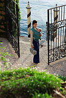 Слинг-шарф DIVA MILANO Barocco Siciliano Turchese (ширина 82 см) (4,2 м)