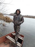 Зимний костюм камуфляжный для рыбалки и охоты , Куртка+ комбинезон ,Ткань Плащевка Верес-Лес