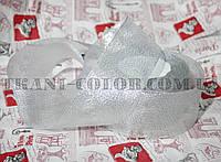 Лента парча 5см серебро (23 метра)
