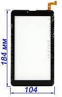 Сенсор, тачскрин планшета Nomi C07004 Sigma+ (черный/белый) 184*104 мм DPO70023-F1 v1.0 (аналог MTCTP-70760)