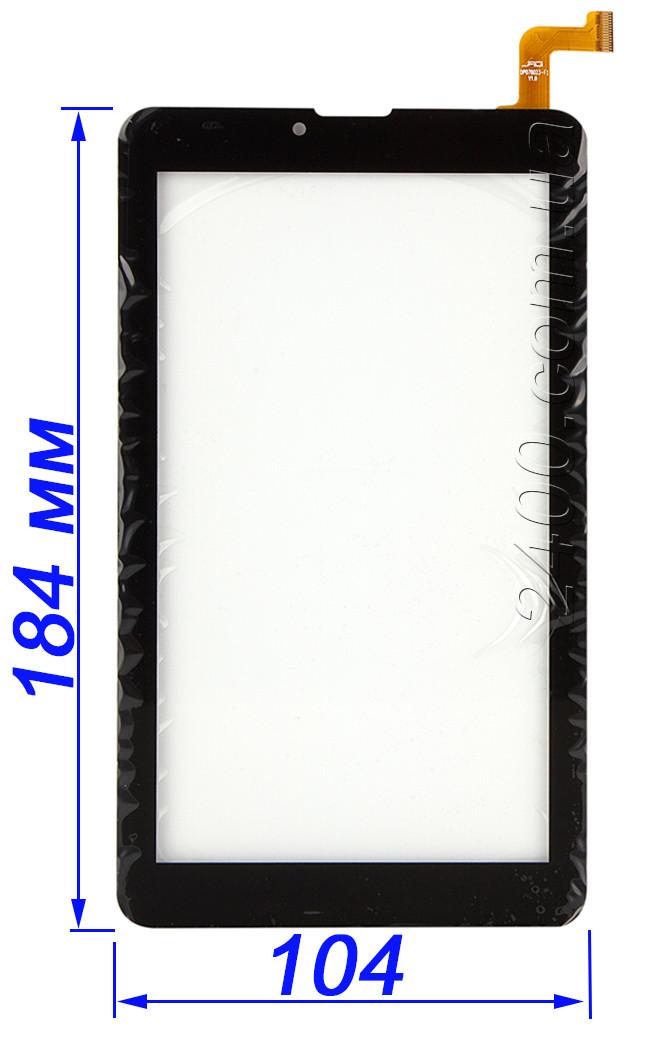 Сенсор, тачскрин для Nomi C07006 Cosmo+ планшета (белый, черный) DPO70023-F1 v1.0 аналог: MTCTP-7076, фото 1