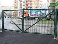 """Металлические ворота """"ТМ Заграда"""" высота 2,4 м и ширина 5,0 м (2 створки)"""