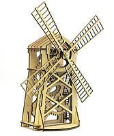 Конструктор Деревянный Механический 3Д Мельница в коробке 80 дет. 14+ Wood Trick Украина