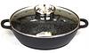 Жаровня с прочным греблоновым покрытием и крышкой с дозатором, Oscar Cooks OC30 28cm.