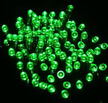 Светодиодная гирлянда на солнечной энергии 22м 200 LED зеленый, фото 3