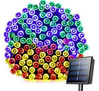 Светодиодная гирлянда на солнечной энергии 22м 200 LED RGB