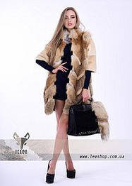 Женские полушубки из натурального меха лисы