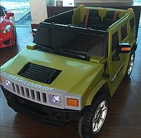 Электромобиль (T-784 GREEN) джип на р.у. 12V7AH мотор 2*35W с MP3 118*70*60