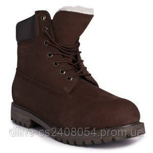 Ботинки Timberland Коричневые с мехом