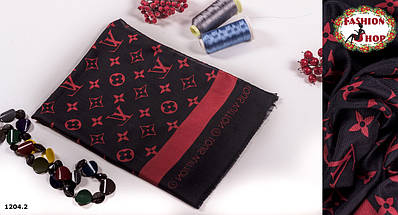 Чёрно-красный стильный шарф Louis Vuitton (реплика), фото 2