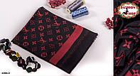Чёрно-красный стильный шарф LOUIS VUITTON