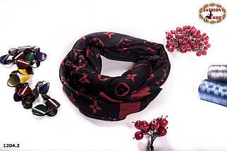 Чёрно-красный стильный шарф Louis Vuitton (реплика), фото 3