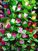 Искусственная лиана с розами.Цветочная лиана.