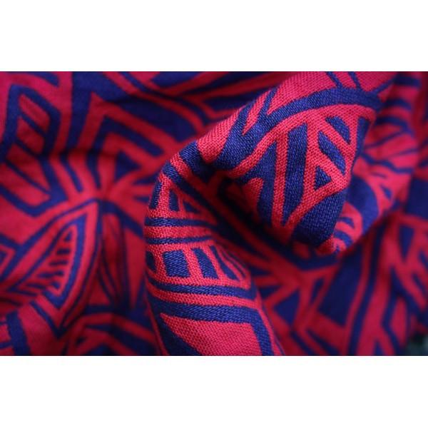 Слинг-шарф YAROSLINGS Yaro Urban Geo Contra Dark-Violet Red Wool (35% шерсти) (4,6 м)