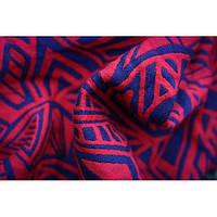 Слинг-шарф YAROSLINGS Yaro Urban Geo Contra Dark-Violet Red Wool (35% шерсти) (4,6 м), фото 1