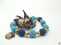 Слингобусы вязаные Голубая лагуна JANNA-D-ART