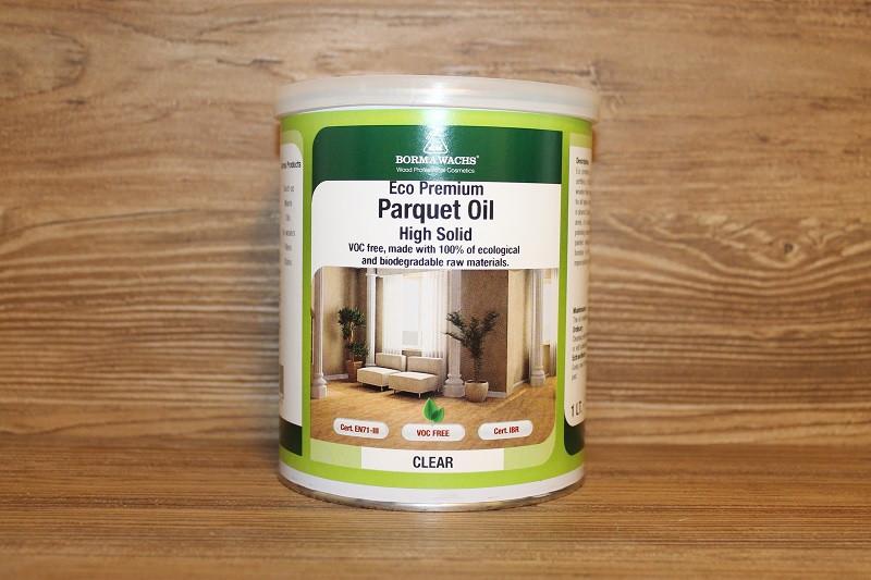 Паркетное масло с высоким сухим остатком, Premium Eco High Solid Parquet Oil