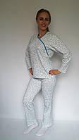 Комплект из байки с начесом кофта с брюками разных расцветок 42-56 р, пижамы женские для кормящих мам