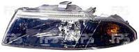 Фара передняя для Mitsubishi Carisma '99-04 левая (DEPO) темный рассеиватель