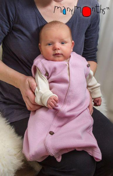Спальный мешок/пелёнка из шерсти мериноса MAM ManyMonths (размер 50-56/62, розовый)
