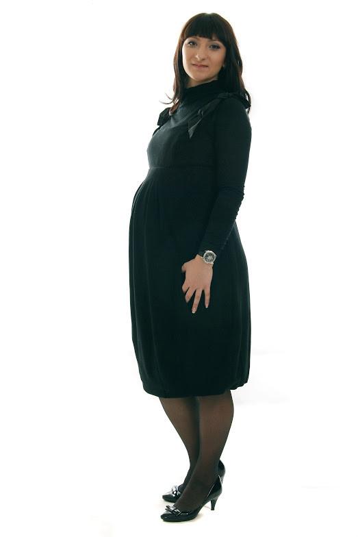 Теплый сарафан для беременных ДЕЛОВАЯ МАМА (чёрный, размер S)