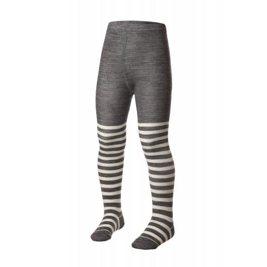 Термоколготки детские Merino Wool NORVEG (бело-серая полоска, размер 74/80)