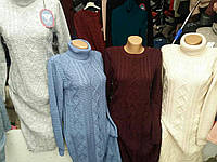 Повседневное теплое платье, разные цвета, 520/490 (цена за 1 шт. + 30 гр.)