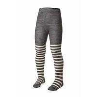 Термоколготки детские Merino Wool NORVEG (бело-серая полоска, размер 110/116)