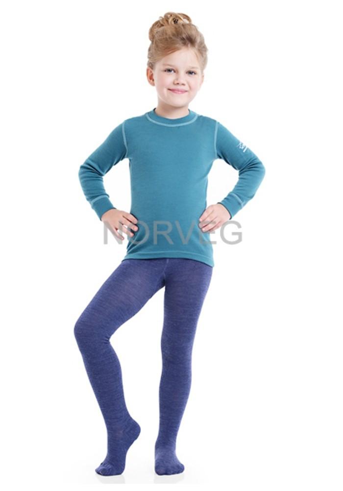 Термоколготки детские Multifunctional NORVEG (голубой меланж, размер 86/92)