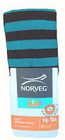 Термоколготки детские Soft Merino Wool NORVEG (полосатые коричневые с голубым, размер 74/80)