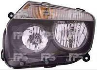 Фара передняя для Renault Duster '10- правая (DEPO) черный отражатель под электрокорректор