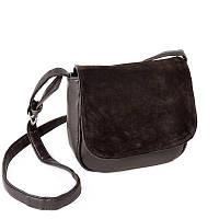 Замшевая женская стильная сумка кросс-боди М52-40/замш