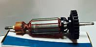 Якорь (ротор) для УШМ болгарки DeWALT 28136 ( 198.5*35 посадка 7