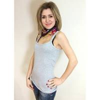 Майка для кормящих с бюстье Амсония ГРУДНИЧОК (размер 50,серый)