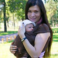 Трикотажный слинг-шарф HOPPEDIZ Chestnut Bio, фото 1