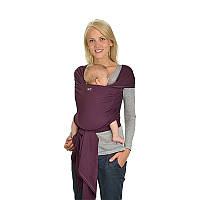 Трикотажный слинг-шарф HOPPEDIZ Aubergine Bio