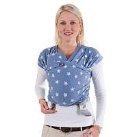 Трикотажный слинг-шарф HOPPEDIZ Blue-melange Bio