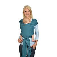 Трикотажный слинг-шарф HOPPEDIZ Petrol (органический хлопок)