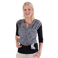 Трикотажный слинг-шарф HOPPEDIZ Grey-melange